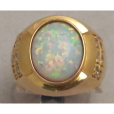 SOLD  14ct GOLD OPAL RING
