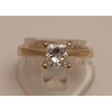 SOLD  18ct GOLD PRINCESS CUT DIAMOND RING