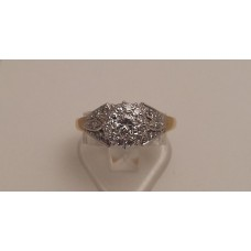 VINTAGE 18ct GOLD and DIAMOND RING   SOLD