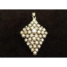 SOLD  18ct WHITE GOLD, DIAMOND PENDANT