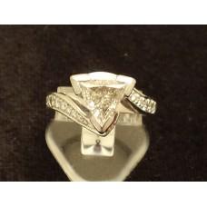 SOLD  18ct WHITE GOLD, 1.23ct TRILLIANT CUT DIAMOND RING