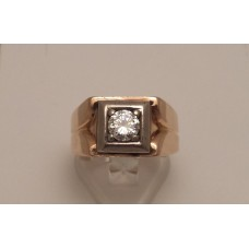 SOLD  18ct GOLD GENTS DIAMOND RING