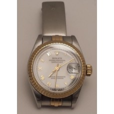 SOLD  ROLEX 18ct GOLD and STAINLESS STEEL DATEJUST