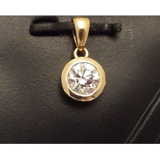 SOLD  18ct GOLD DIAMOND PENDANT