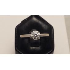 SOLD  18ct WHITE GOLD F, VVS1 DIAMOND RING