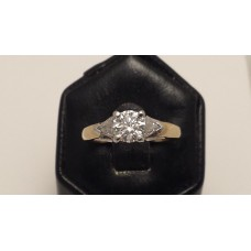 18ct GOLD E, VS2 DIAMOND RING