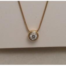 SOLD  18ct GOLD 0.75CT DIAMOND PENDANT