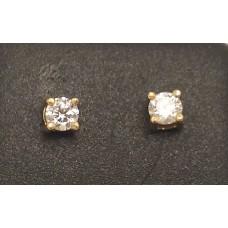 18ct GOLD, DIAMOND STUDS