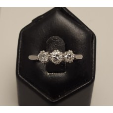 SOLD  18ct WHITE GOLD, PLATINUM and OLD CUT DIAMOND RING