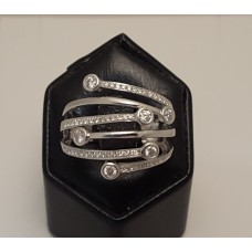 SOLD  18ct WHITE GOLD and DIAMONDS RING