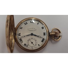"9ct GOLD ""LEVINSON & SONS"" POCKET WATCH"