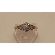 ANTIQUE 18ct GOLD and PLATINUM OLD CUT DIAMOND RING