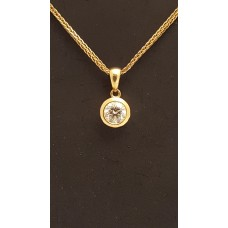 SOLD  18ct GOLD and DIAMOND PENDANT