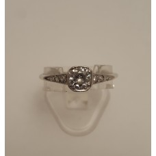 VINTAGE PLATINUM and OLD CUT DIAMOND RING