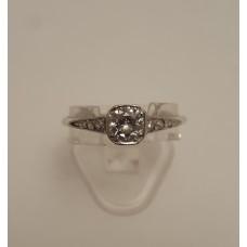 VINTAGE PLATINUM and OLD CUT DIAMOND RING