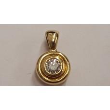 18ct GOLD DIAMOND SET PENDANT