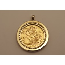 SOLD  1896 SOVEREIGN PENDANT