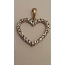 10ct GOLD and DIAMOND HEART