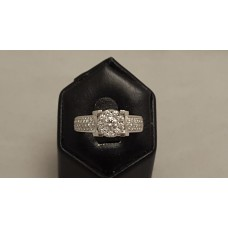 18ct WHITE GOLD, DIAMOND RING