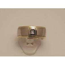 18ct YELLOW and WHITE GOLD, PRINCESS CUT DIAMOND RING