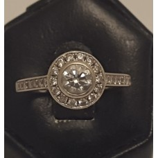 """18ct WHITE GOLD and DIAMOND """"HALO"""" RING"""
