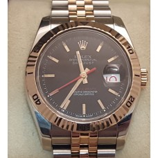 SOLD  ROLEX 116261 ROSE GOLD TURN-O-GRAPH DATEJUST