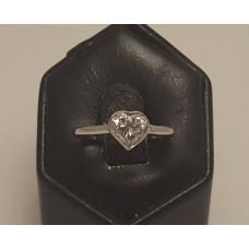 SOLD  18ct WHITE GOLD, 0.70ct HEART CUT DIAMOND