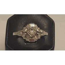 18ct WHITE GOLD VINTAGE DIAMOND RING