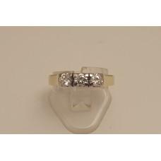 SOLD  18ct GOLD 3 DIAMOND RING