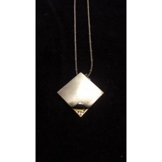 18ct WHITE and YELLOW GOLD, DIAMOND SET PENDANT