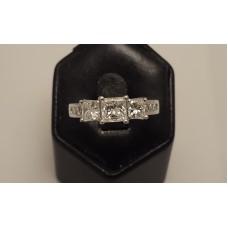 SOLD  18ct WHITE GOLD 3 DIAMOND RING