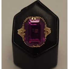 SOLD  9ct GOLD AMETHYST RING