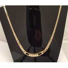 SOLD  18ct GOLD, DIAMOND NECKLET