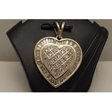 SOLD  14ct GOLD, DIAMOND HEART