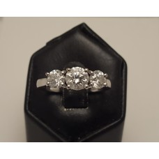18ct WHITE GOLD .72ct, F, SI1 DIAMOND