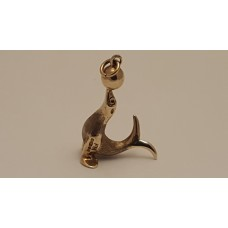 9ct GOLD SEAL CHARM