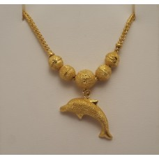 SOLD  23ct, .965, GOLD CHAIN WITH DOLPHIN