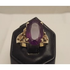 SOLD  VINTAGE 18ct GOLD AMETHYST RING