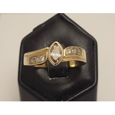 18ct GOLD CHAMPAGNE DIAMOND RING