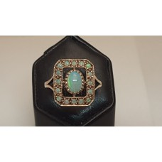 SOLD  9ct GOLD, SOLID OPAL RING