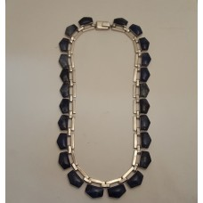 SOLD  SILVER & BLUE AGATE NECKLACE
