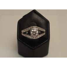 SOLD  1ct DIAMOND, 18ct WHITE GOLD RING