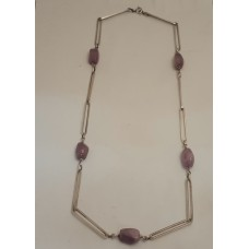SOLD  AMETHYST, SILVER NECKLACE