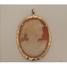 14ct GOLD CAMEO PENDANT