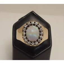 22ct GOLD, OPAL & DIAMOND RING