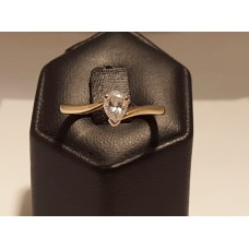 SOLD  PEAR CUT DIAMOND, 18ct GOLD RING
