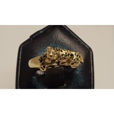 18ct GOLD PANTHER RING