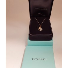 SOLD  TIFFANY & CO. 18ct GOLD LOVE CHARM & CHAIN