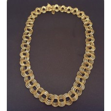FANCY 18ct GOLD NECKLACE