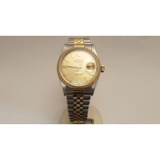 SOLD  18ct GOLD & STAINLESS STEEL ROLEX 16013